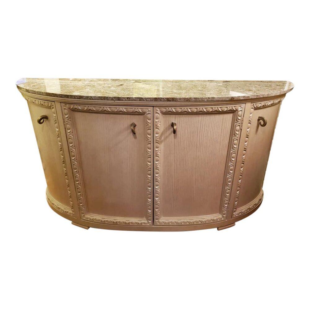 custom-italian-marble-top-demilune-sideboard-4541