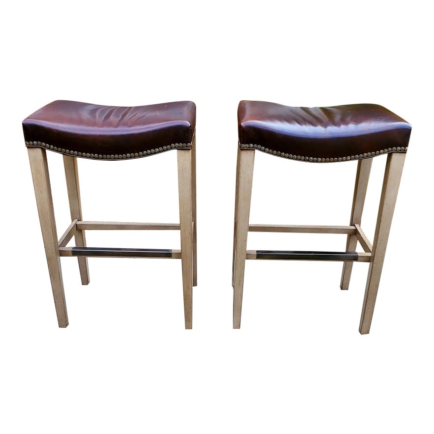 hickory-chair-madigan-backless-counter-stools-a-pair-5619