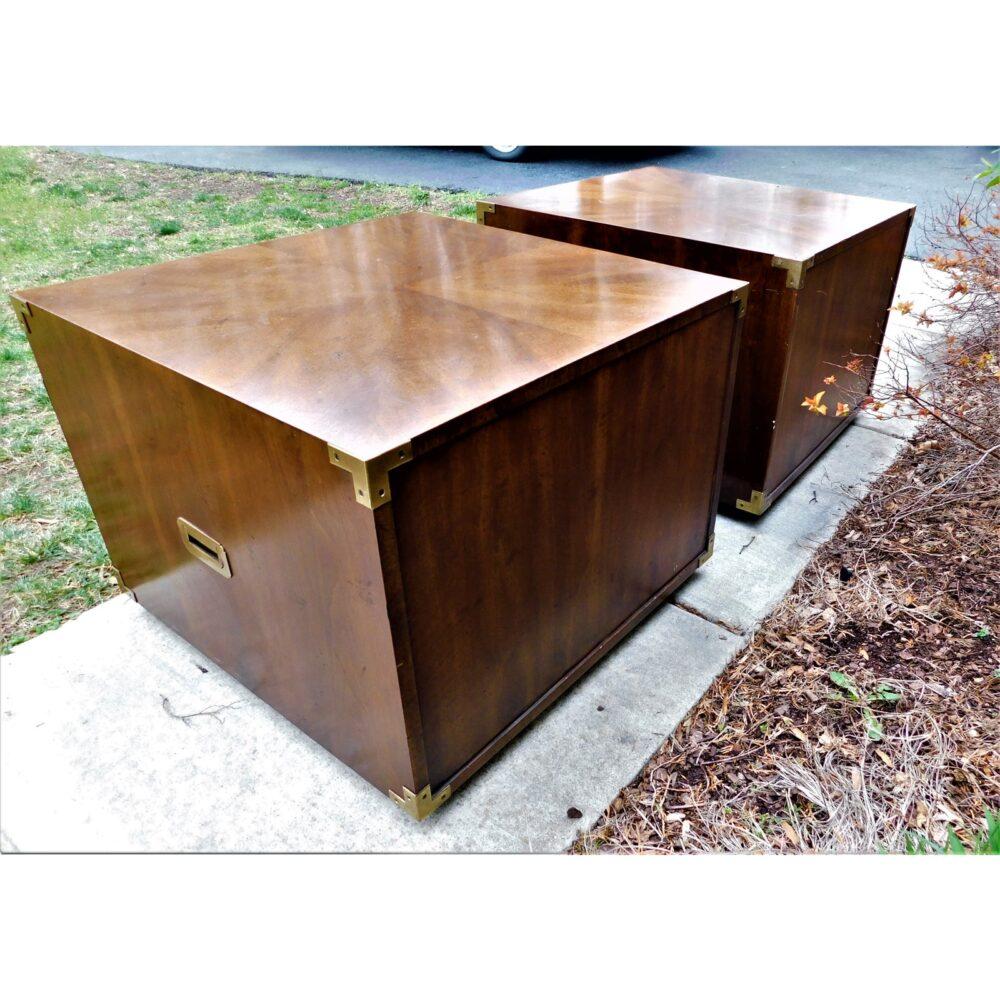 vintage-campaign-henredon-end-tables-a-pair-5491