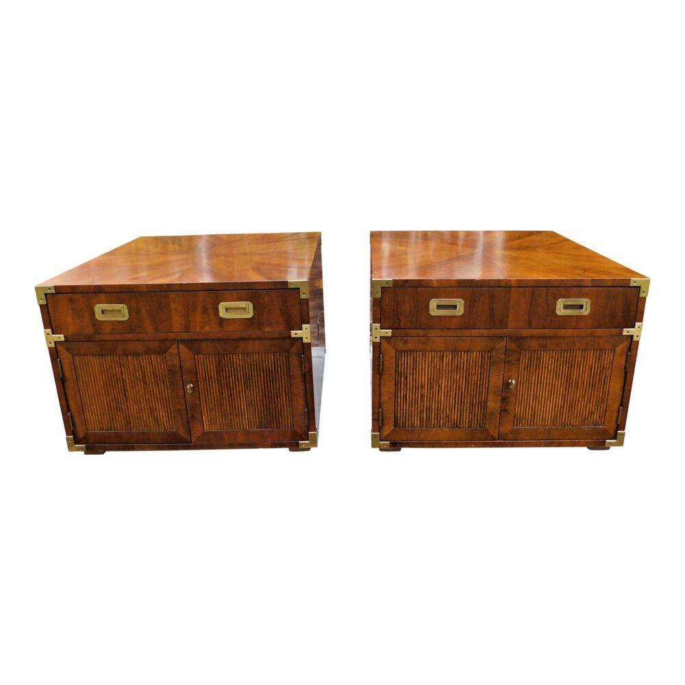 vintage-campaign-henredon-end-tables-a-pair-9288